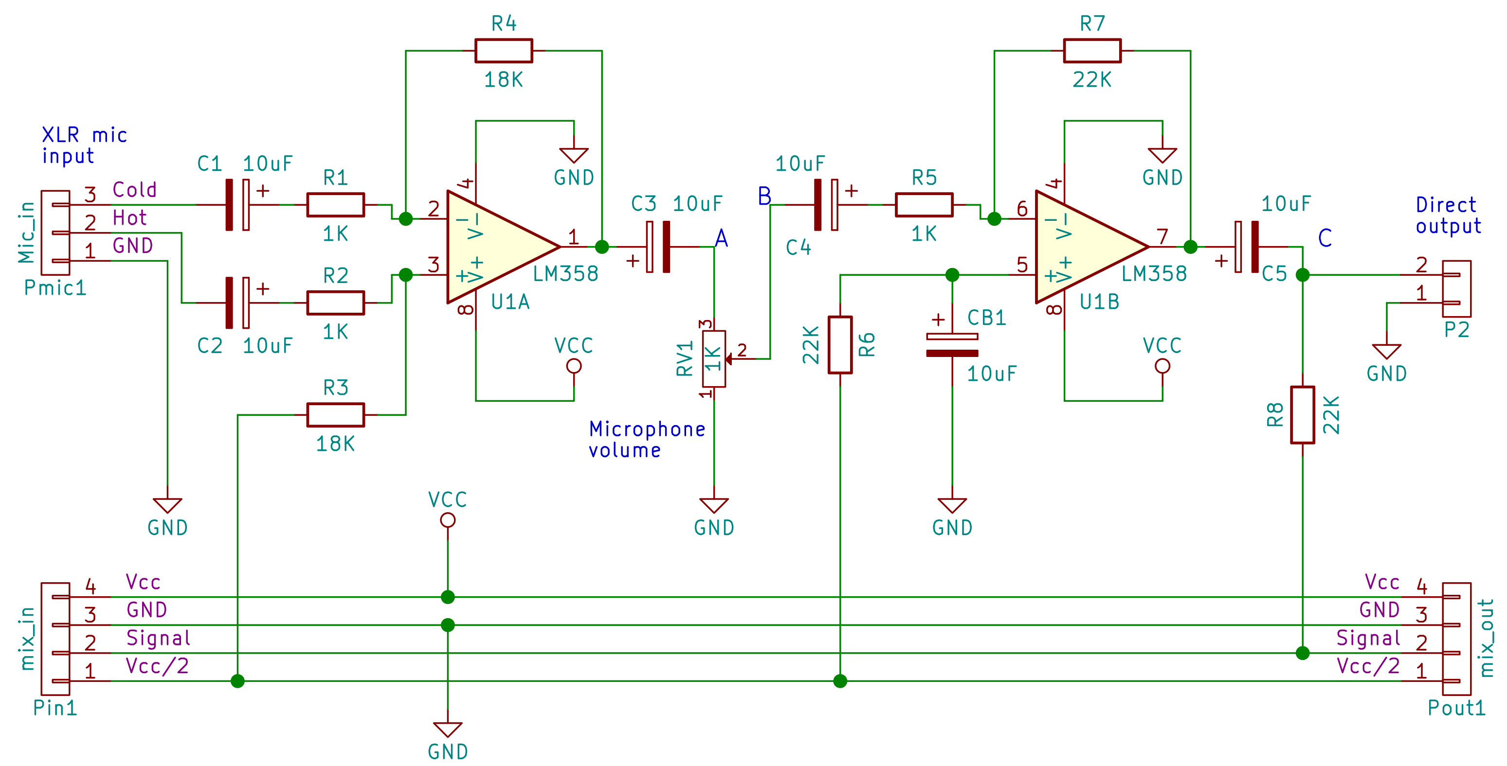 Microphone preamplifier schematic