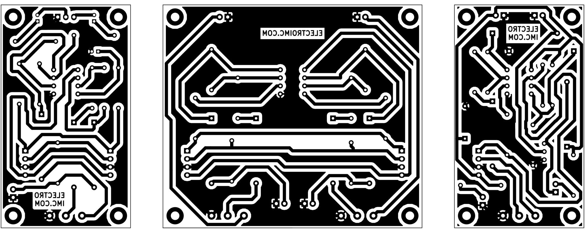 Circuito impreso para la mesa de mezcla audio modular
