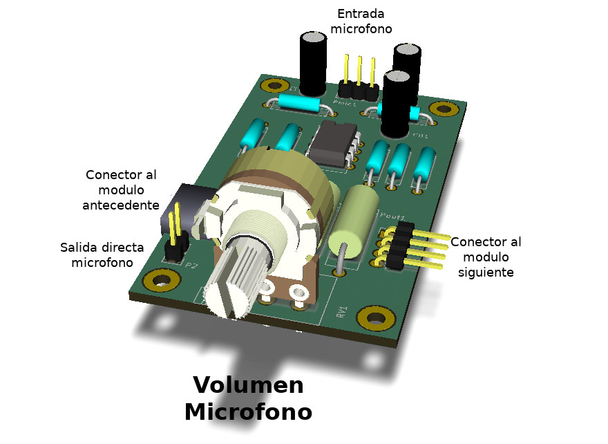 Foto del modulo microfonico