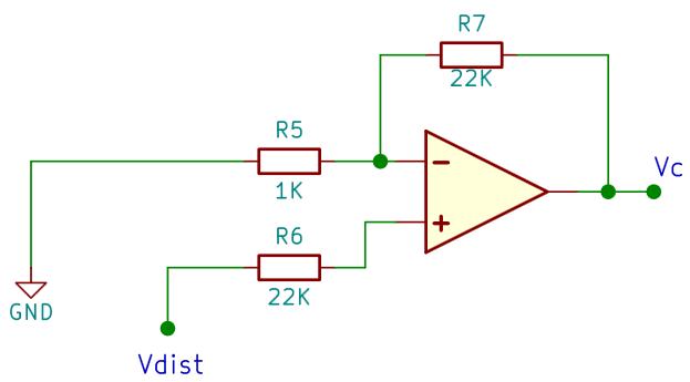 El circuito no inversor sin CB1