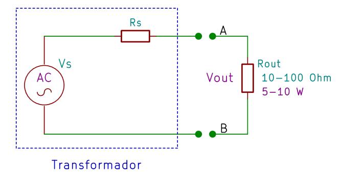 Modelo de un transformador