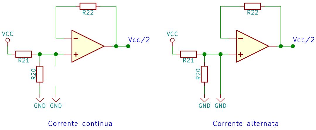 Comportamento del condensatore di bypass